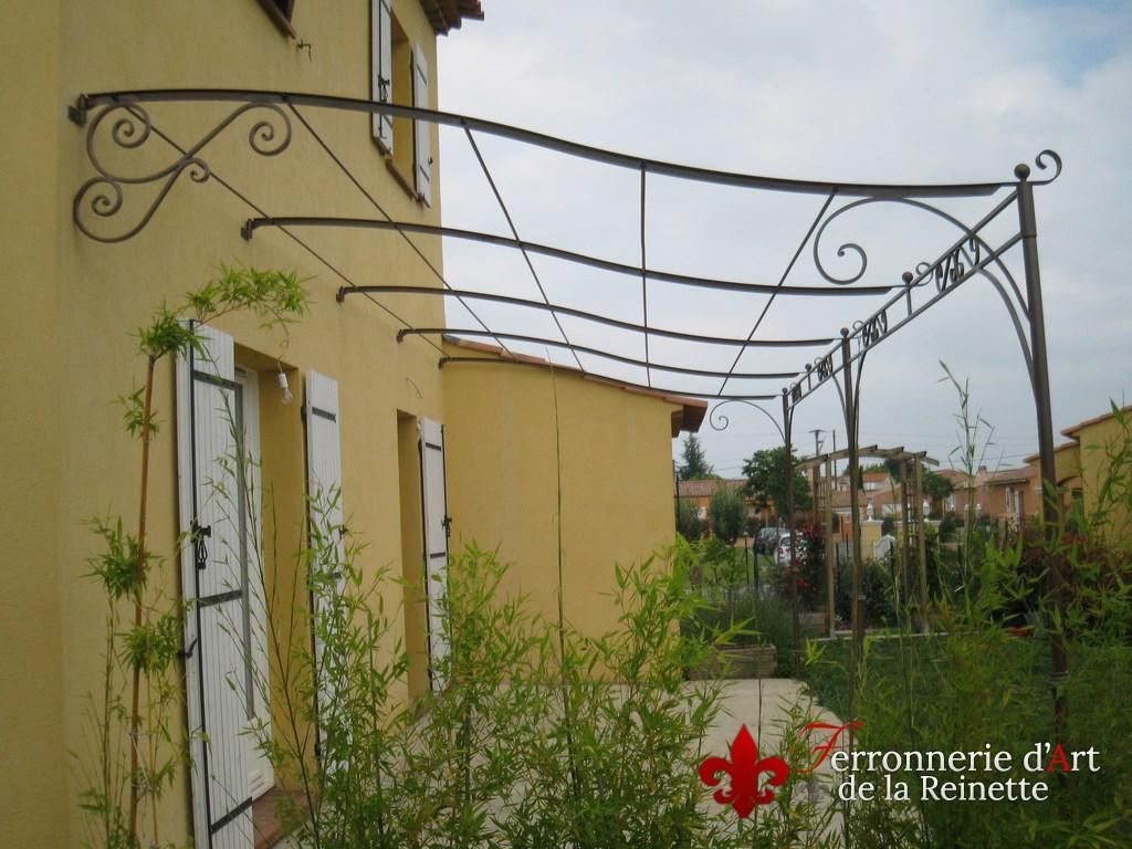 Pergola en fer forgé fabrication sur mesure ferronnerie Toulon Var ...